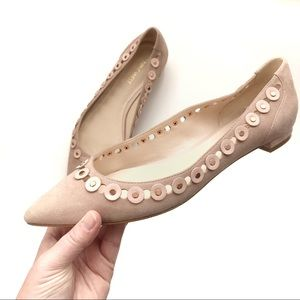 Nine West | Blush Suede Pointed Flats